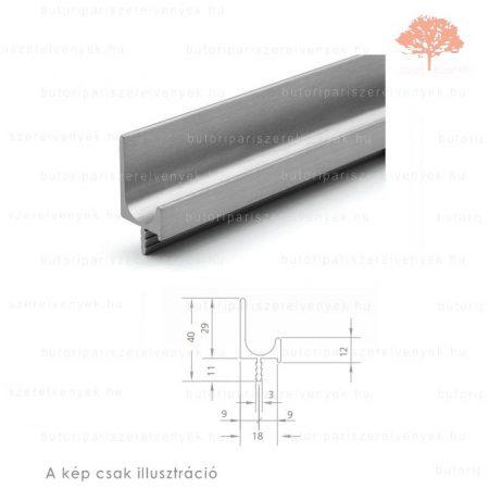 JU3000 alumínium színű fogantyú profil