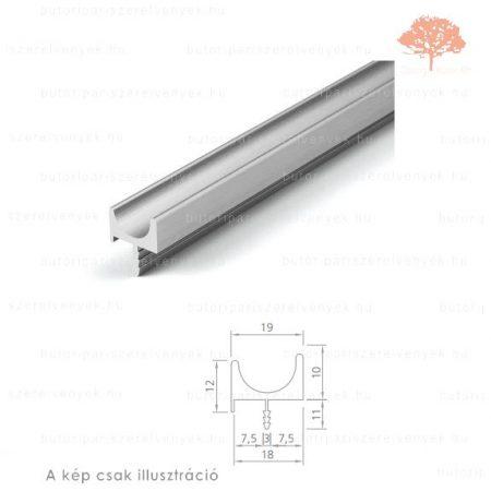 MA3000 alumínium színű fogantyú profil