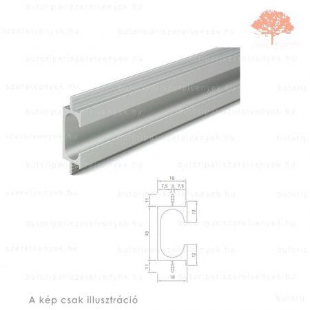 RI3000 alumínium színű fogantyú profil