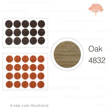 ø13mm-es TÖLGY színű 20db öntapadós takarósapka