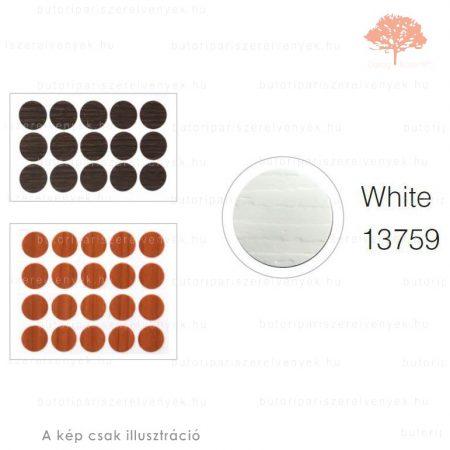 ø13mm-es EREZETT FEHÉR színű 20db öntapadós takarósapka