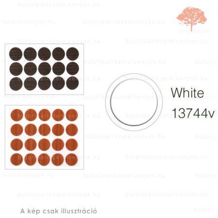 ø13mm-es GYÖNGY FEHÉR színű 20db öntapadós takarósapka