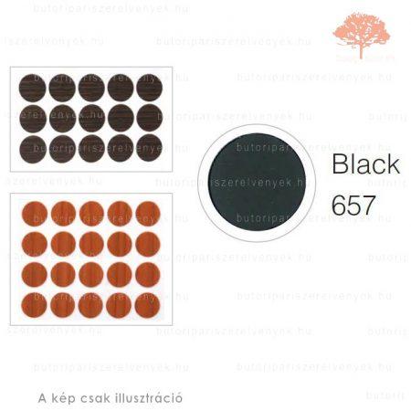 ø13mm-es FEKETE színű 20db öntapadós takarósapka