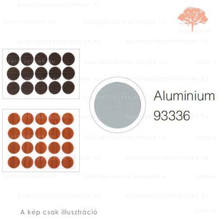 ø20mm-es MATT ALUMÍNIUM színű 15db öntapadós takarósapka