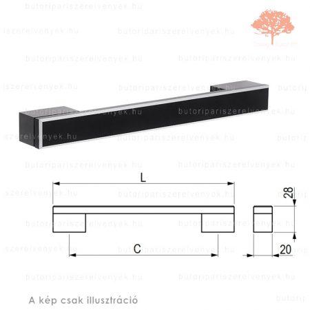 RO320 fekete színű fogantyú