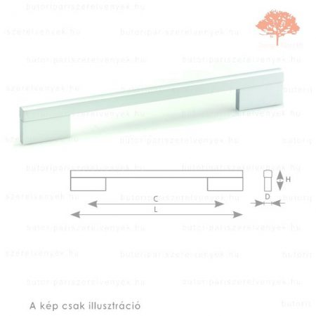 LI160 alumínium színű fogantyú