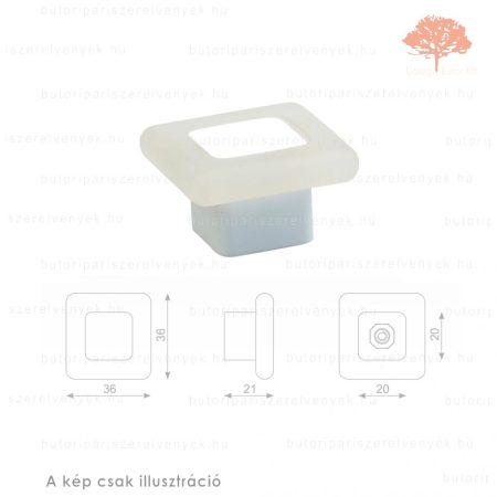 MQ fehér lágyított műanyag gomb