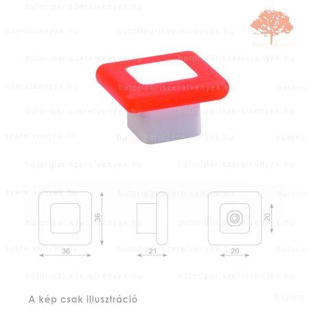 MQ narancssárga lágyított műanyag gomb