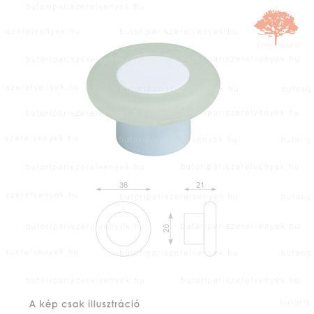 MR fehér lágyított műanyag gomb