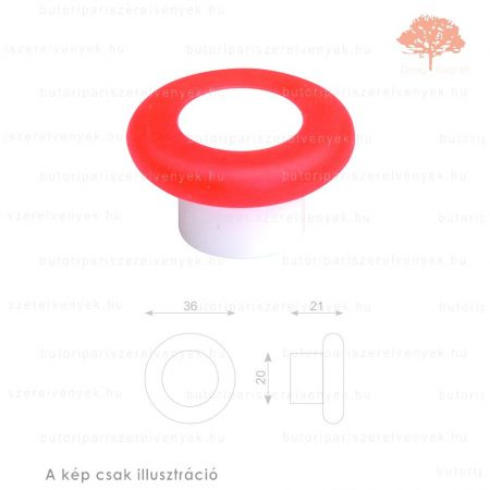MR narancssárga lágyított műanyag gomb