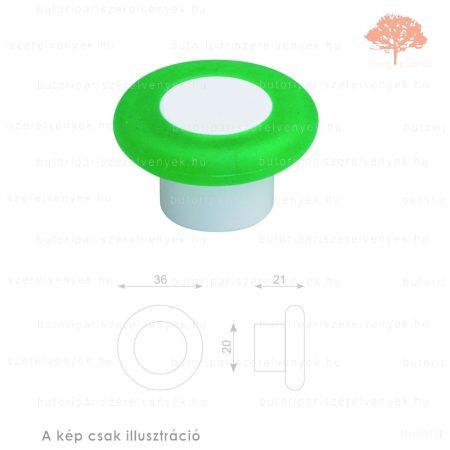 MR zöld lágyított műanyag gomb