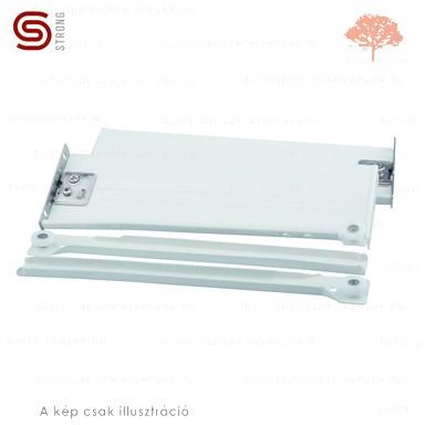 Strong - fehér színű 270mm-es részleges kihúzású HAGYOMÁNYOS görgős fióksín 150mm-es OLDALLAPPAL