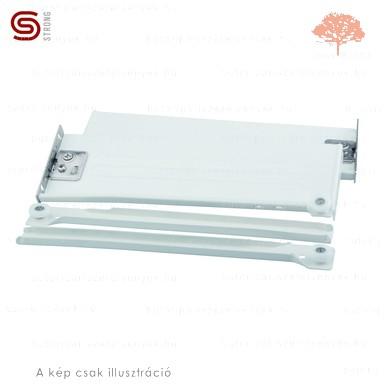 Strong - fehér színű 350mm-es részleges kihúzású HAGYOMÁNYOS görgős fióksín 86mm-es OLDALLAPPAL
