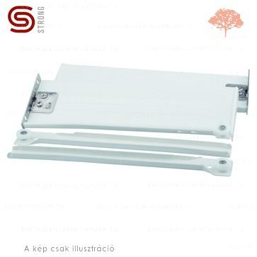 Strong - fehér színű 500mm-es részleges kihúzású HAGYOMÁNYOS görgős fióksín 54mm-es OLDALLAPPAL