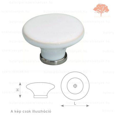 BO fényes króm/fehér porcelán színű gomb