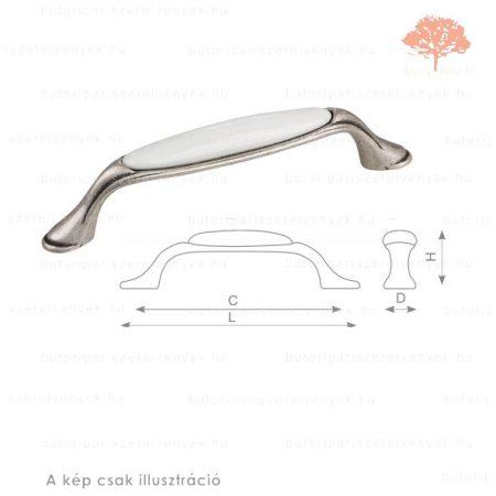MA96 óezüst/fehér porcelán színű fogantyú