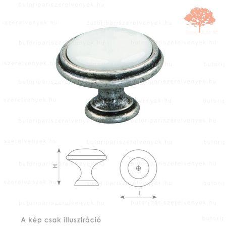 MA óezüst/fehér porcelán színű gomb
