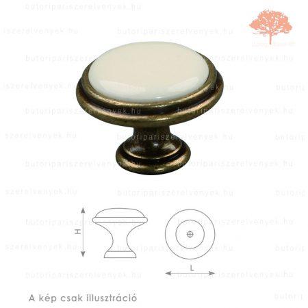 MA ósárgaréz/drapp porcelán színű gomb