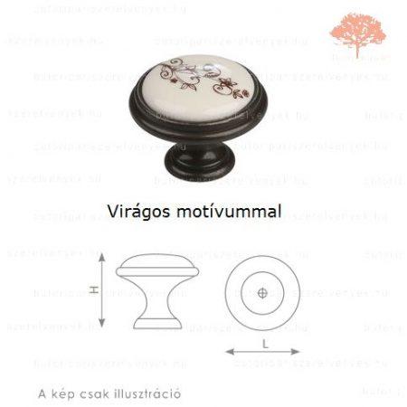 MA country bronz/motívumos porcelán színű gomb
