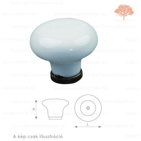 ST óezüst/fehér porcelán színű gomb