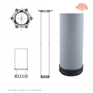 Henger alakú RAL 7004 szürke színű ø60mm / 710mm-es asztalláb