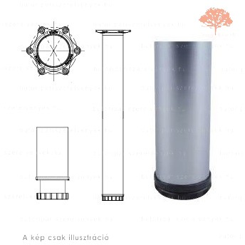 Henger alakú szatén (matt) króm színű ø60mm / 1100mm-es asztalláb