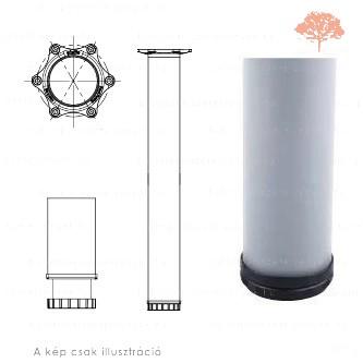 Henger alakú RAL 9006 ezüst színű ø60mm / 820mm-es asztalláb