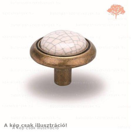 SA antik réz / repedezett porcelán színű gomb