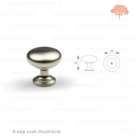 JO szatén (matt) nikkel színű gomb