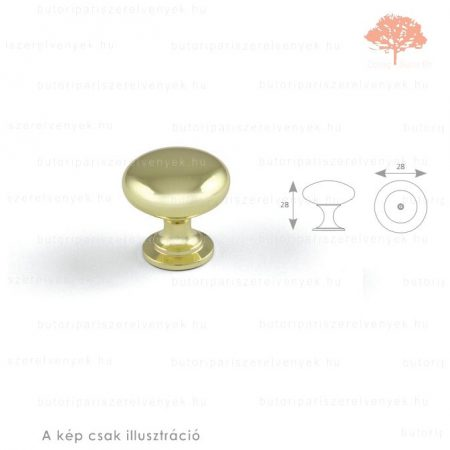 JO sárgaréz (arany) színű gomb