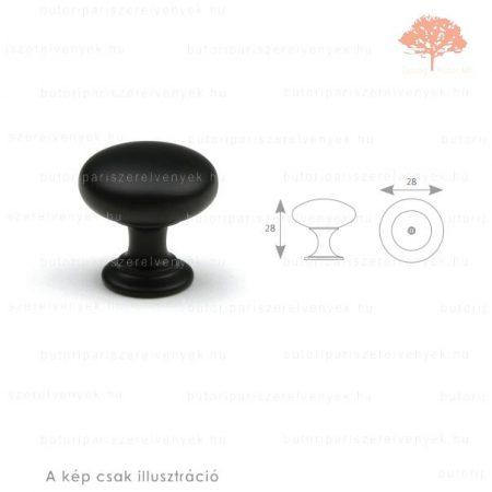 JO fekete színű gomb
