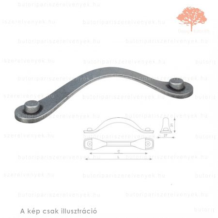 HA128 matt fekete acél színű fogantyú