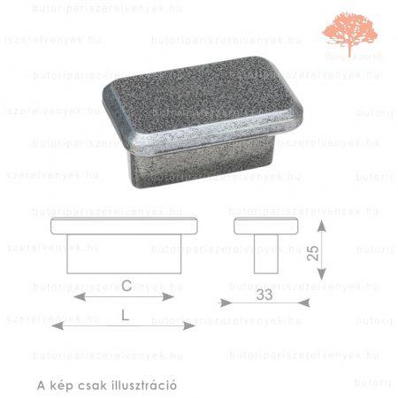 BO32 matt fekete acél színű gomb