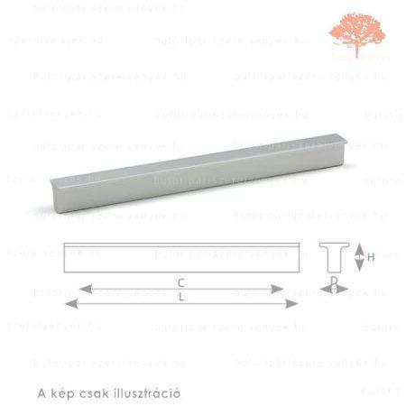 LI128 alumínium színű fogantyú