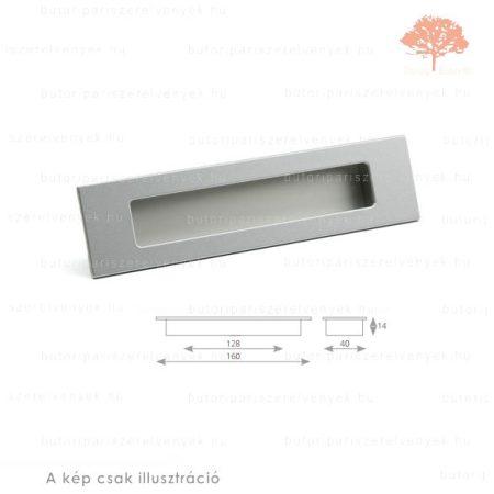 MA128 ezüst színű besüllyeszthető fogantyú