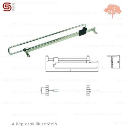 Strong - 350mm-es nikkel színű kihúzható vállfatartó