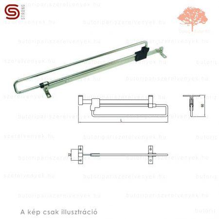 Strong - 300mm-es nikkel színű kihúzható vállfatartó