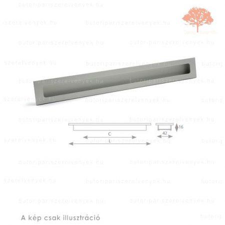RU320 ezüst színű besüllyeszthető fogantyú