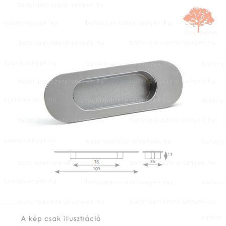 AV76 szatén (matt) nikkel színű besüllyeszthető fogantyú