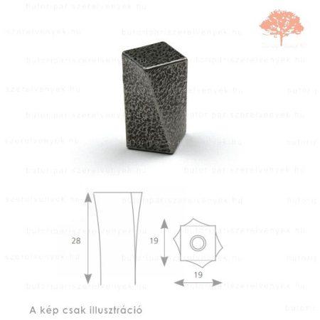 CO oxidált acél színű gomb