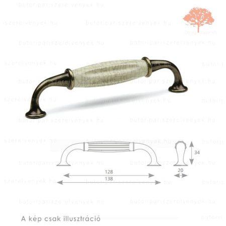 CO128 sötét bronz /repedezett porcelán színű fogantyú