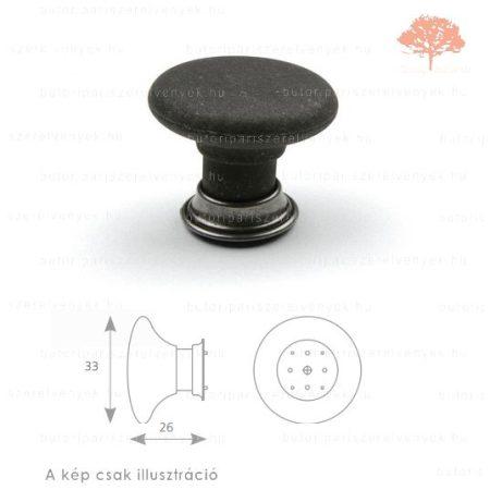 VI oxidált acél/matt fekete színű gomb