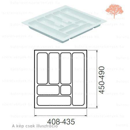Fehér színű 500mm-es műanyag evőeszköztartó