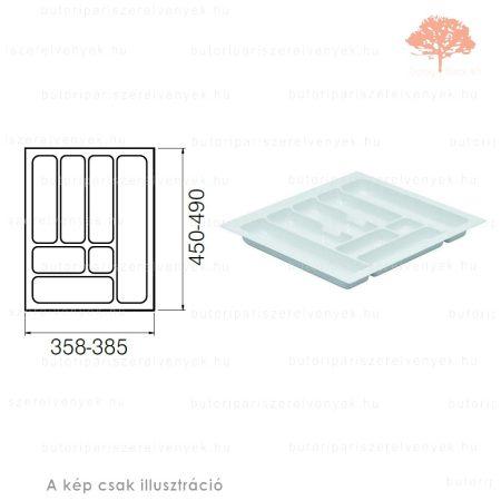 Fehér színű 450mm-es műanyag evőeszköztartó