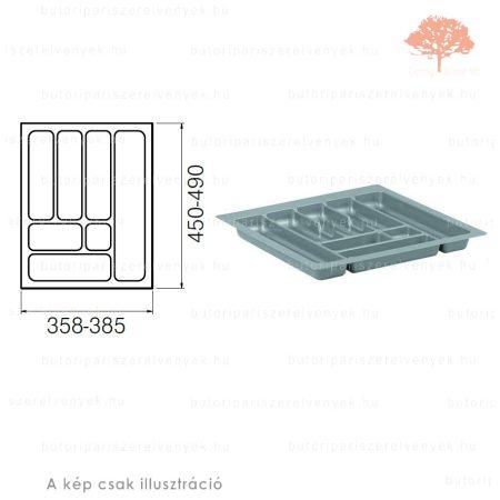 Ezüst színű 450mm-es műanyag evőeszköztartó