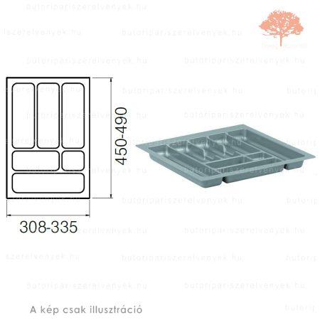 Ezüst színű 400mm-es műanyag evőeszköztartó