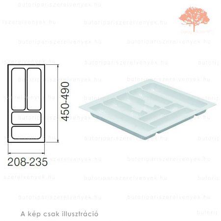 Fehér színű 300mm-es műanyag evőeszköztartó