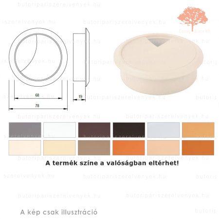 Juhar színű KEREK ø70mm-es zárható műanyag kábelkivezető