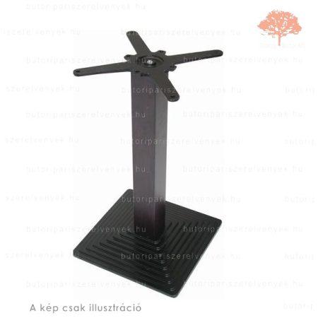 Központi fekete színű 450x450mm / 720mm-es asztalláb
