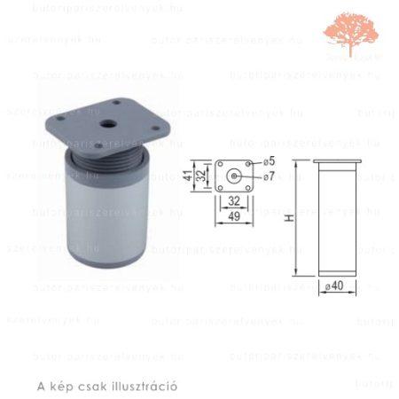 Henger Al profilú eloxált alumínium színű ø40mm / 60mm-es bútorláb